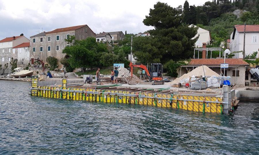 Popravak operativne obale u luci Ošljak završava prije roka
