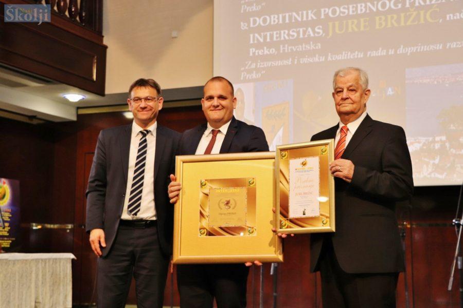 Općini Preko Zlatni Interstas, a načelniku Brižiću posebno priznanje