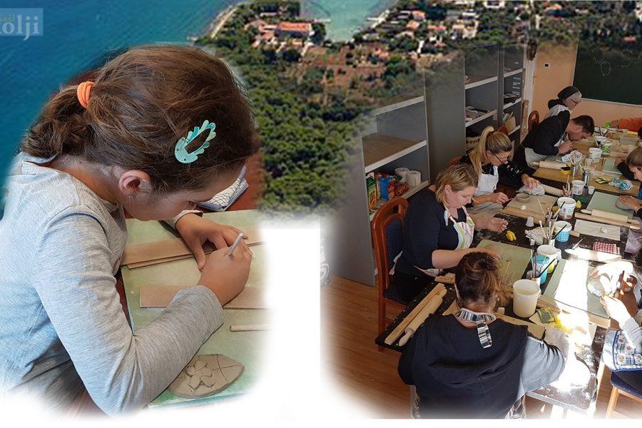 Početni tečaj osnova keramike za djecu u Ugljanu