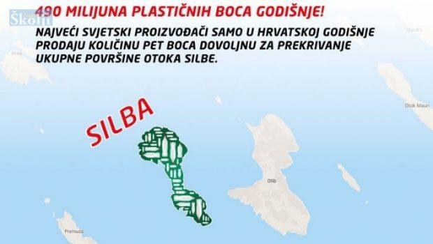 Hrvati godišnje PET bocama prekriju površinu otoka Silbe!