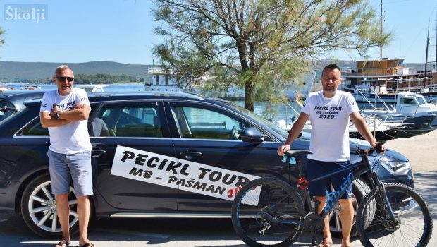 Branko Lukič za okladu prešao na biciklu 407 km od Maribora do Pašmana