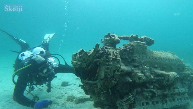 Iz podmorja Rivnja izvađen jedinstveni avionski motor Rolls Royce Merlin