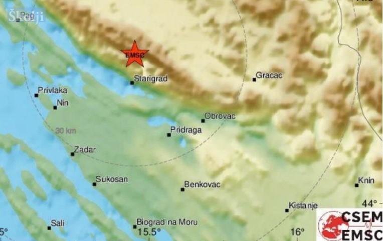 Potres s epicentrom u NP Paklenica osjetio se na svim zadarskim otocima