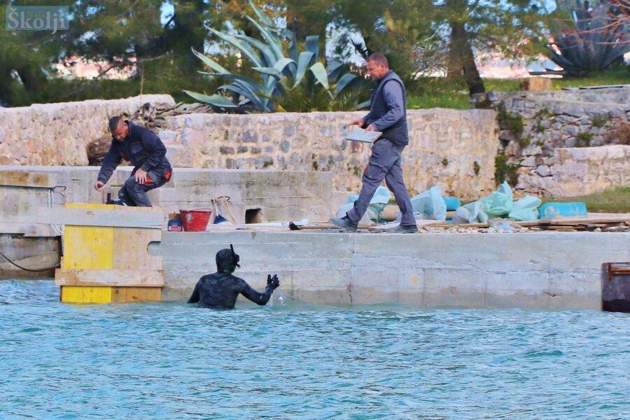 Na otočiću Galevcu sanira se glavna rivica stara više od stotinu godina